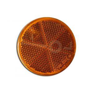 Reflector rond, oranje 60mm zelfklevend