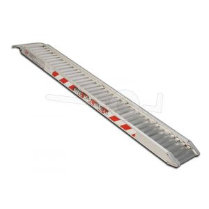 Aluminium oprijplaat Metalmec M070/20 200x24cm maximum draagvermogen 1228kg
