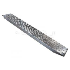 Aluminium oprijplaat Metalmec M120S/3/45 met aluminium loopvlak 450x36cm draagvermogen 2872kg