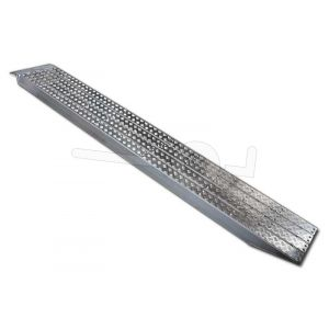 Aluminium oprijplaat Metalmec M120S/3/55 met aluminium loopvlak 550x36cm draagvermogen 2051kg