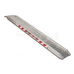 Aluminium oprijplaat Metalmec M070/25L 250x44cm maximum draagvermogen 762kg
