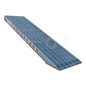 Aluminium oprijplaat Metalmec M120S/3/45 met rubber loopvlak 450x36cm draagvermogen 2872kg