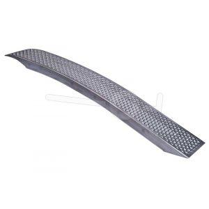 Gebogen aluminium oprijplaat lichtgewicht 199x26cm draagvermogen 375kg