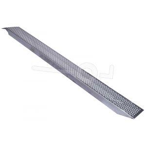 Aluminium oprijplaat universeel lichtgekwicht 249x26cm draagvermogen 500kg