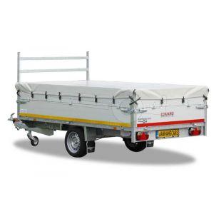 Vlakzeil compleet voor Eduard Trailer plateauwagen of multitransporter 310x160, grijs, ongemonteerd