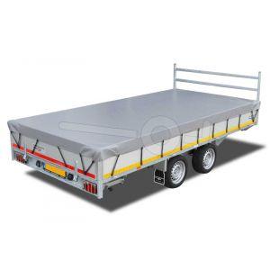 Vlakzeil compleet voor Eduard Trailer plateauwagen of multitransporter 406x200, grijs, ongemonteerd