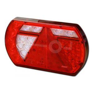 Achterlicht unit LED 12V links, centrale stekkeraansluiting 8-polig