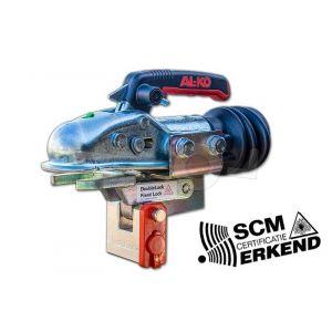 Disselslot DoubleLock Type AK301, SCM goedgekeurd, voor AL-KO 3.000kg 2x horizontaal M12