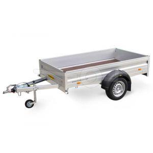 Humbaur H 751611 G enkelas aluminium aanhangwagen 165x110cm 750kg geremd