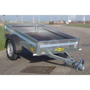 Humbaur Steely enkelas aanhangwagen met metalen borden 205x110cm 750kg ongeremd