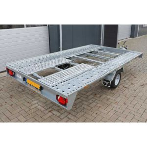 Humbaur kantelbare enkelas autotransporter 350x200cm 1500kg