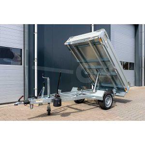 Humbaur enkelas achterwaartse kipper aanhangwagen 268x1560cm 1500kg