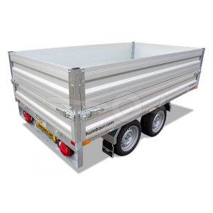 Opzetborden 35cm hoog voor Humbaur HU plateauwagen of HUK achterwaartse kipper met bakmaat 230x140cm.