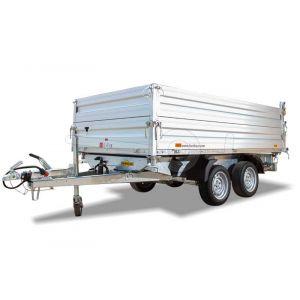 Aluminium opzetborden 60cm hoog voor Humbaur HTK 3-zijdige kipper met bakmaat 363x185cm.