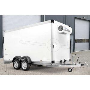 Humbaur diepvriesaanhangwagen met Govi 2000 P koelaggregaat 358x163x222cm bruto 2500 laadvermogen 2500kg