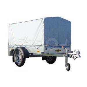 Huif compleet voor Humbaur 1000 serie Steely 205x110, 100cm hoog grijs. Ongemonteerd