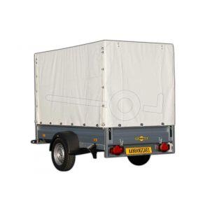 Huif voor Humbaur aluminium aanhangwagen, afmeting 251 x 131 cm met een dakhoogte van 160 cm vanaf de laadvloer.