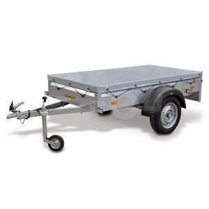Vlakzeil voor Humbaur 1000 serie Steely 205 x 110 grijs. Ongemonteerd