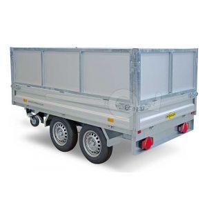 Loofrek met aluminium panelen 363x185cm (lxb bak) 62cm hoog voor Humbaur HTK 3-zijdige kipper.