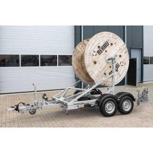 Kabelhaspel aanhangwagen Humbaur KTA 3500 afmeting 220x145x185cm.