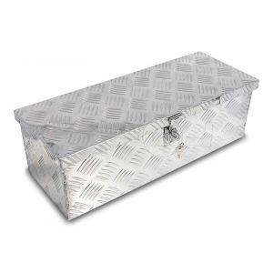 Materiaalkist aluminium afm. 585x230x185 mm, voorzien van slot, zonder handvatten