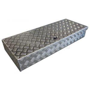De Haan HAV materiaalkist aluminium 900x380x150mm, voorzien van vlinderslot, voor montage op de dissel