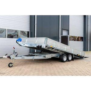 Kantelbare multitransporter met oprijklep Humbaur MTKA afmeting 420x218 cm bruto laadvermogen 3000 kg