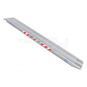Aluminium oprijplaat Metalmec M060B3/25 250x32cm maximum draagvermogen 1700kg