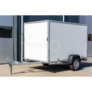 Powertrailer gesloten aanhangwagen met kunststof wanden 200x100x125 cm 750kg ongeremd