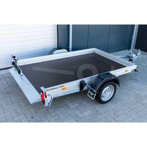 Humbaur hydraulisch zakbare transporter HKT 182515 S, 250x156cm, bruto laadvermogen 1800kg, met elektrische bediening op de dissel
