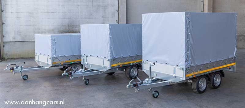 nieuwe 145cm Eduard plateauwagens met huif