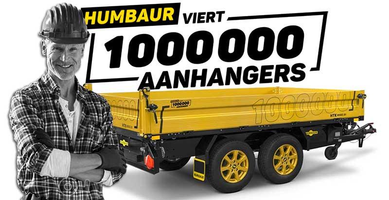 De 1.000.000ste Humbaur aanhangwagen en een tevreden gebruiker
