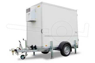 Enkelas koelwagen