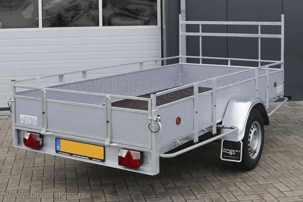Powertrailer open aanhangwagen met kunststof laadborden