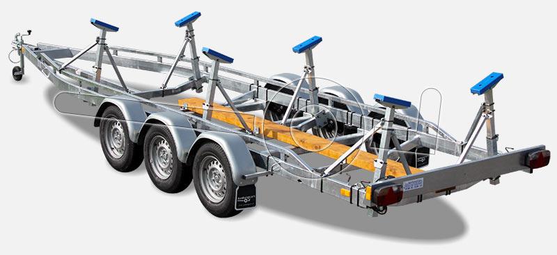 Stallingstrailer voor kielboot
