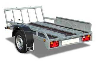 Motortrailer geschikt voor één tot twee motoren